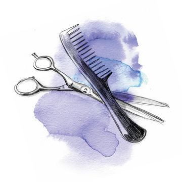 Illustration Friseur